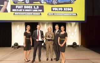vlnr. Markus Wildeis (Fiat/Abarth), Eva Martinsson (Volvo), Oliver Schmerold (ÖAMTC-Verbandsdirektor)